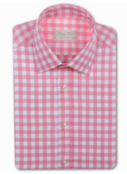 Shirt man slim fit large gingham