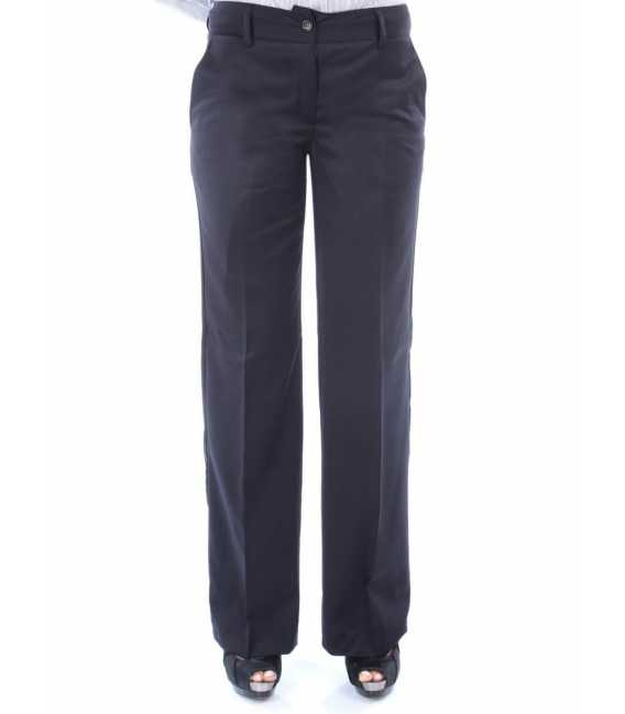 Pants woman right in pure wool Super 150's