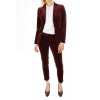Fitted jacket woman velvet smooth Palate