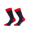 Mens socks over of Scotland 100% cotton navy and red