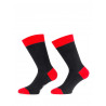 Mens socks over of Scotland 100% cotton black and red