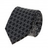 Tie pure silk black graphic pattern square