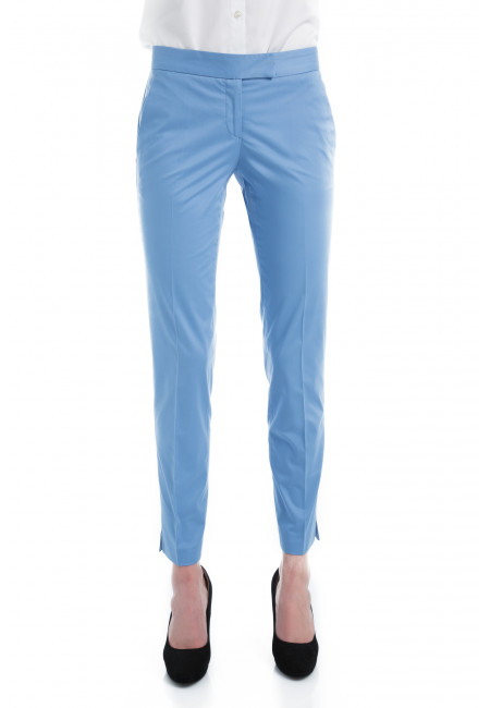 Pants in cotton slightly stretch cut cigarette