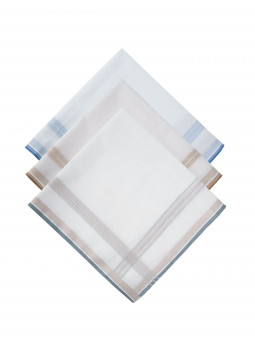 Box of 3 handkerchiefs in pure cotton