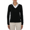 Sweater women V-neck in wool and cashmere