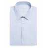 Shirt classic fit 100% cotton striped white