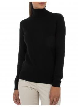 Sweater women turtleneck wool and cashmere