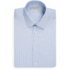 Shirt very curved finely striped
