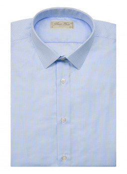 Shirt slim fit with small tiles