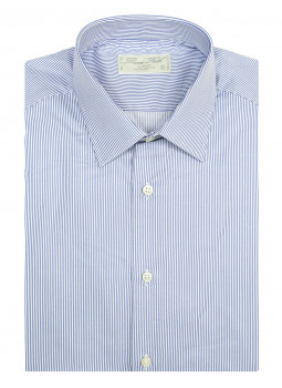Shirt man slim fit thin stripes