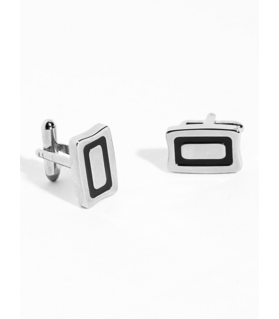 Cufflinks, metal and epoxy