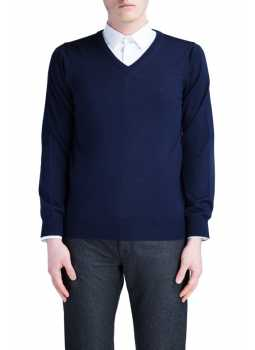 Mens sweater v-neck  extra fine merio wool