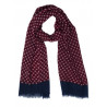 Scarf in pure wool patterned