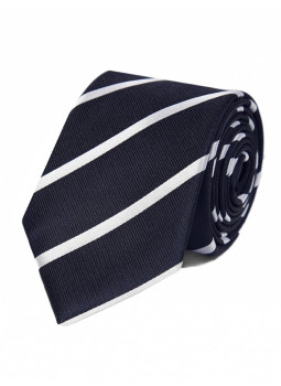 Tie in pure silk stripes