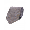 Tie in pure silk navy bulleted chestnuts, marine and grey