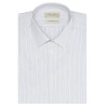 Men's slim fit shirt with thin grey stripes
