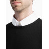 Pull homme col rond Laine et cachemire fin