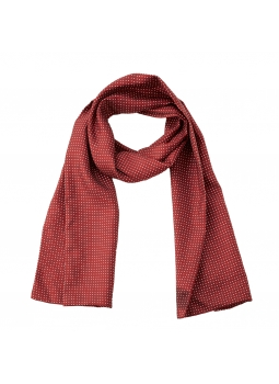 Scarf in pure silk polka dot