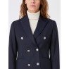 Blazer Caroline crossover bodices with silver buttons 100% wool