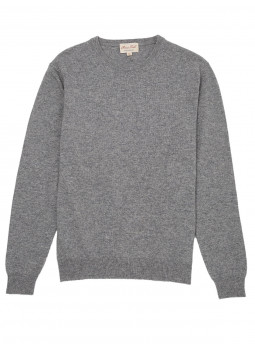 Pull laine cachemire col rond GG12