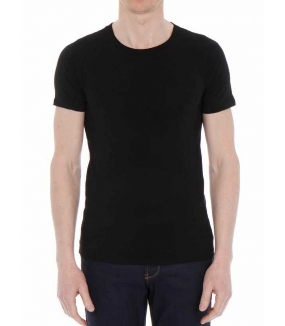 T-shirt jersey pur coton col rond