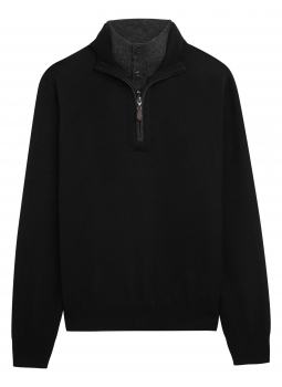Cashmere and Wool Butonned Lining Polo