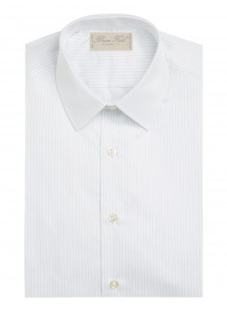 Classic shirt in fine stripe sky pure cotton