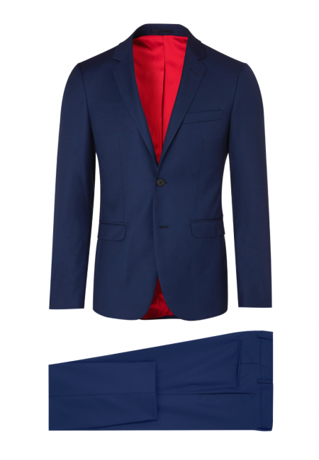 Fitted Suit curved in pure wool 110's Vitale Barberis Canonico